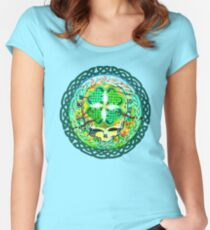 Shamrock Stealie Women's Fitted Scoop T-Shirt