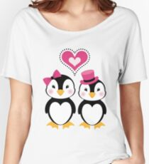 Valentine Penguins Women's Relaxed Fit T-Shirt