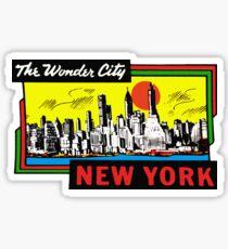 New York City Vintage Travel Decal Sticker