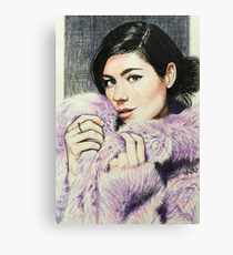 """Marina and the Diamonds 3 - """"If I could buy forever at a price"""" Canvas Print"""