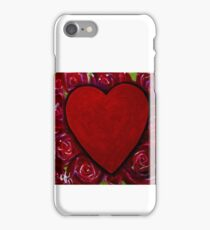 Red Heart Roses Flowers Valentines Day Love Lover Wife Mother Girlfriend Red Happy Beautiful Sweetheart Adore Mom Bouquet Gift iPhone Case/Skin