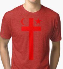 Mikmaq Flag Tri-blend T-Shirt