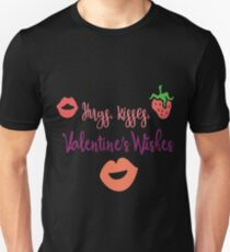 Valentines Day- Hugs & Kisses  Unisex T-Shirt