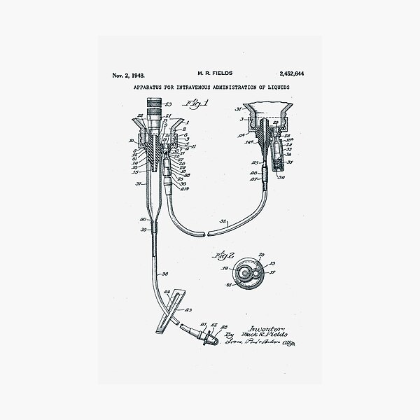 Intravenous  Drip Patent 1948 Photographic Print