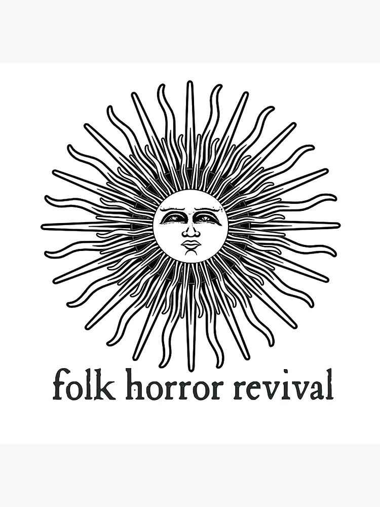 Folk Horror Revival logo original. black on white by folkhorrorrev