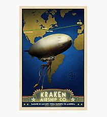 Steampunk Airship: Laurentian Homestead Photographic Print