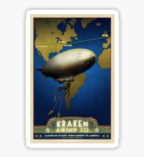 Steampunk Airship: Laurentian Homestead Sticker