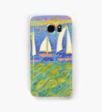 Bobbing in the Turquoise Sea  Samsung Galaxy Case/Skin