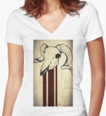 Aorta Women's Fitted V-Neck T-Shirt