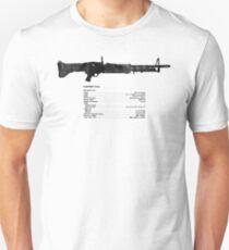 TM Machine Gun, 7.62-MM, M60 W/E Unisex T-Shirt