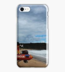 Red Rubber Ducky at Red Rock Beach iPhone Case/Skin