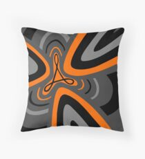 Hail Adobe - Orange, grey, and black Throw Pillow