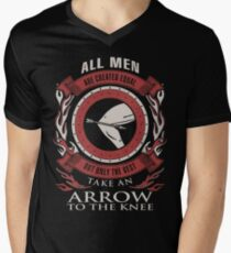ONLY THE BEST TAKE AN ARROW TO THE KNEE Men's V-Neck T-Shirt
