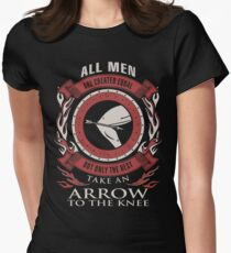 ONLY THE BEST TAKE AN ARROW TO THE KNEE Women's Fitted T-Shirt