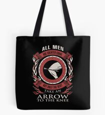 ONLY THE BEST TAKE AN ARROW TO THE KNEE Tote Bag