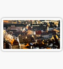 Strasbourg city aerial view from the tower, Alsace, France Sticker
