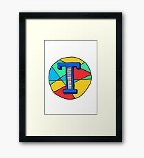 Alphabet T Framed Print