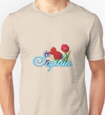 Sophia with Red Tulips Unisex T-Shirt