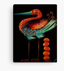Clever Bird Canvas Print