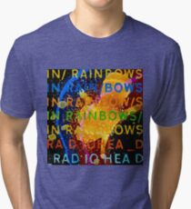 In Rainbows Artwork Reproduction using watercolours, ink and photoshop Tri-blend T-Shirt