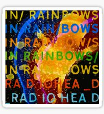 In Rainbows Artwork Reproduction using watercolours, ink and photoshop Sticker