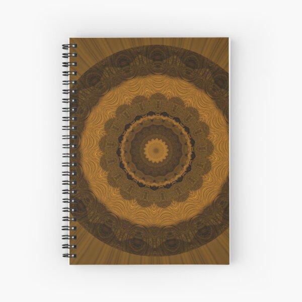 Brown Mandela by Julie Everhart Spiral Notebook
