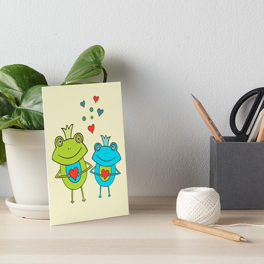 Niedliches Baum-Frosch-Muster Galeriedruck