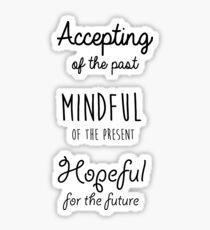 Pegatina Cita de Mindfulness