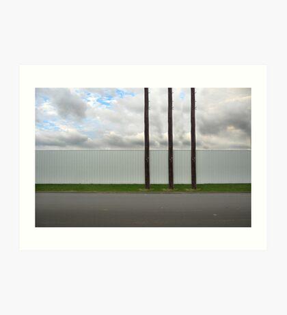 3 poles Art Print