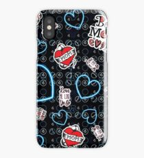 Mothers Delight Blue iPhone Case/Skin