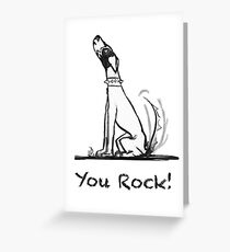 Iggy Pup: You Rock Greeting Card