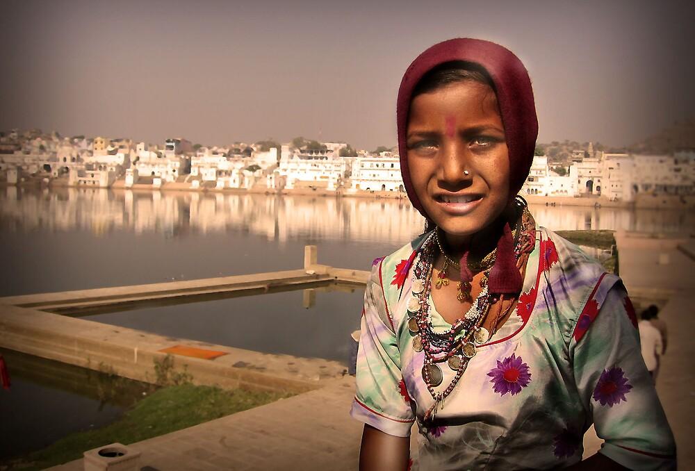 Pushkar girl by Paul Vanzella