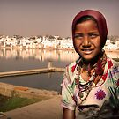Pushkar girl by Paul Vanzella