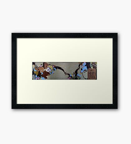 panorama off smith street Framed Print