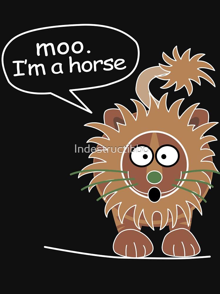Moo. I'm a horse by Indestructibbo
