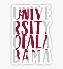 University of Alabama - Style 21 Sticker