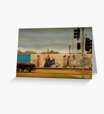traffic lights Greeting Card
