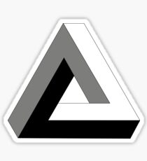 Penrose Never Ending triangle  Sticker