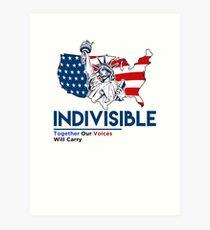 Indivisible: Liberal Anti Trump Movement Art Print