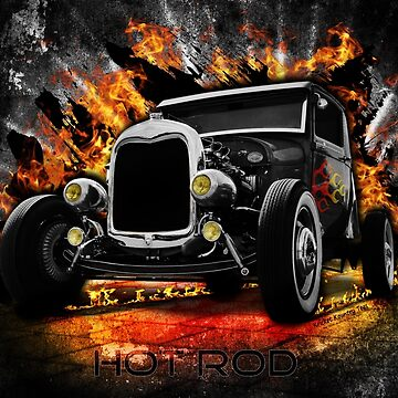 HOTROD Montage...with Flames. by Kricket-Kountry