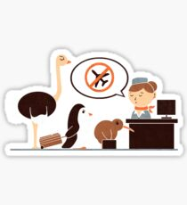 The No-Fly List Sticker
