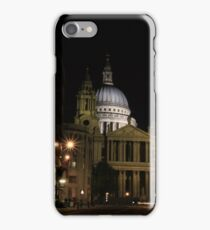 Night view of St Paul's Cathedral  iPhone Case/Skin