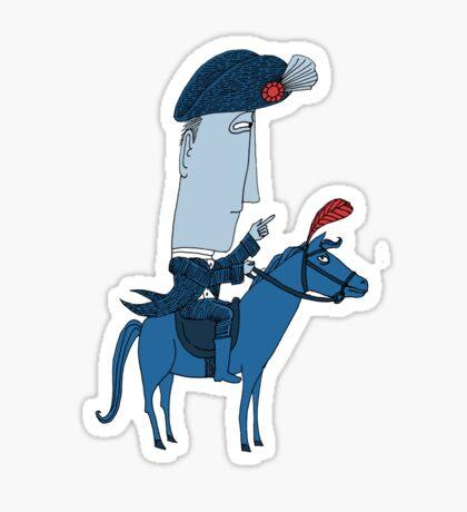 Napoleon and his Horse Sticker