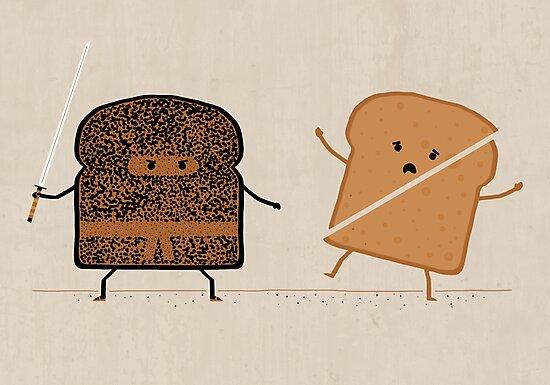 Ninja Toast by Teo Zirinis