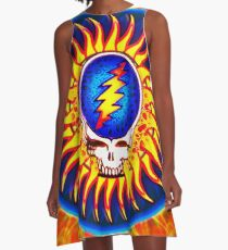 Sunburst Summer Grateful Dead Tribute A-Line Dress