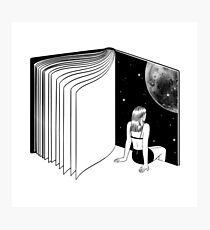 Space Book Photographic Print
