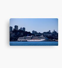 Cruise Liner In San Francisco Canvas Print