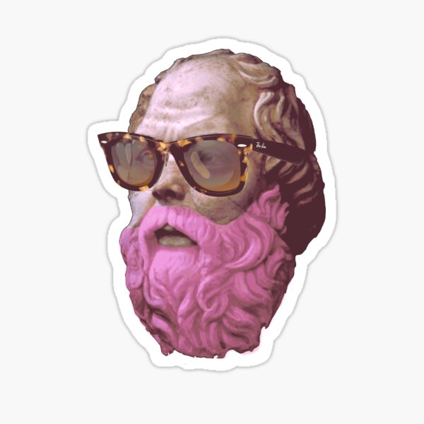 Sócrates en rosa Pegatina