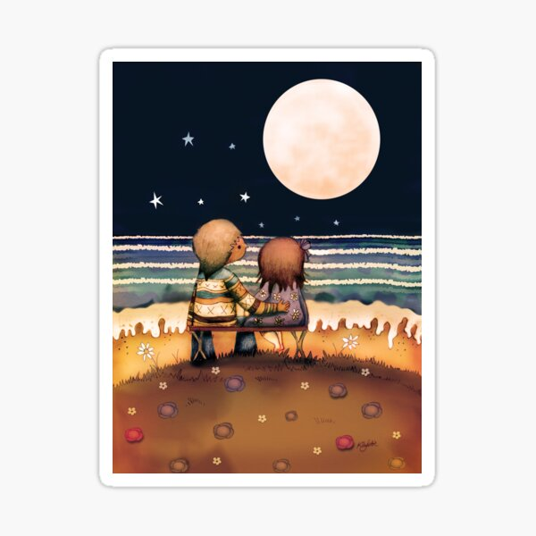 the stars, the moon and the tide Sticker