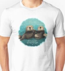 Sea Otters in Love Unisex T-Shirt